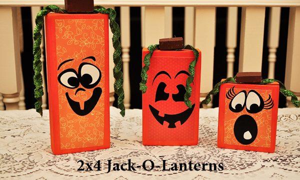 2×4 Jack-O-Lanterns