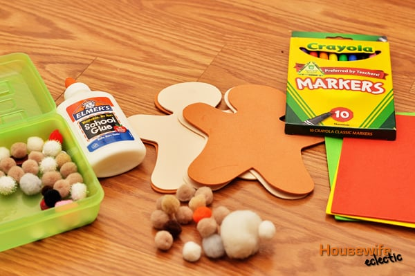 Foam Gingerbread Man Decorating Kit Housewife Eclectic