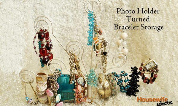 Photo Holder Turned Bracelet Storage