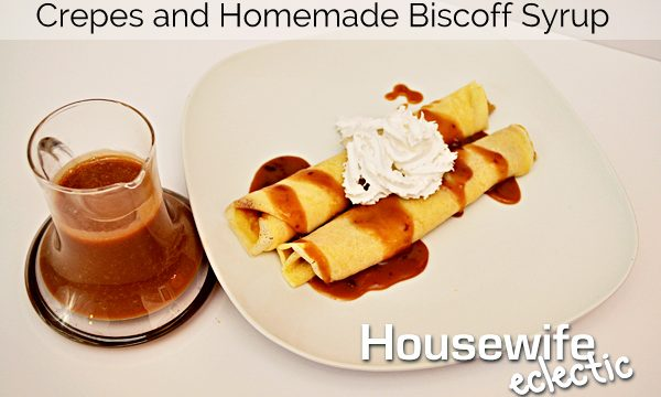 Crepes and Homemade Biscoff Syrup
