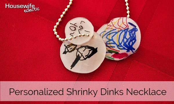 Personalized Shrinky Dink Necklace- Perfect for Grandmas