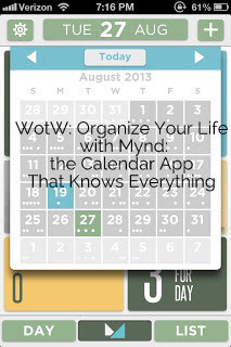 WotW: Organize Your Life with Mynd: the Calendar App That Knows Everything