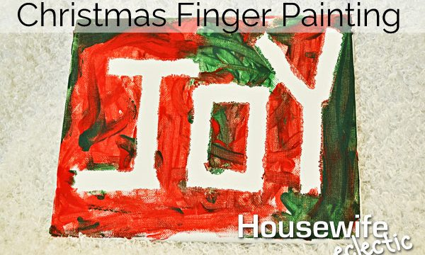 Christmas Finger Painting