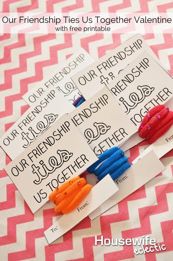 housewife eclectic our friendship ties us together valentine with free printable
