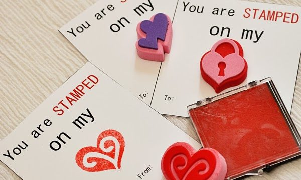 You Are Stamped On My Heart Valentine with Free Printable