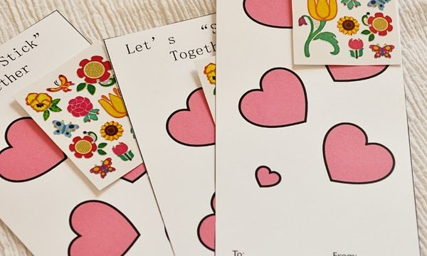 "Let's ""Stick"" Together Valentine with Free Printable"