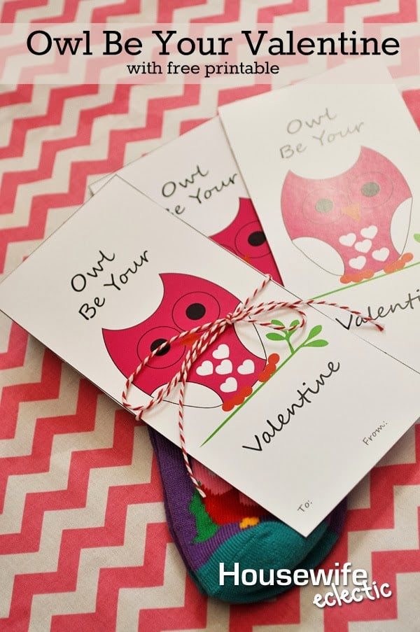 Housewife Eclectic: Owl Be Your Valentine with Free Printable
