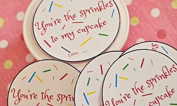 You're The Sprinkles To My Cupcake Valentine with Free Printable