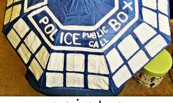 Paint Your Own TARDIS Umbrella