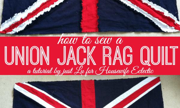 Union Jack Rag Quilt Tutorial