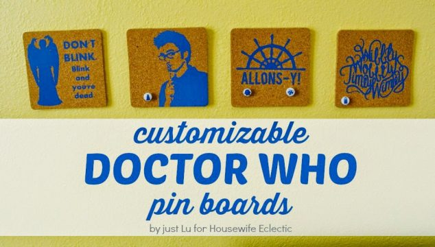 Easy Custom Pinboards for Doctor Who Fans