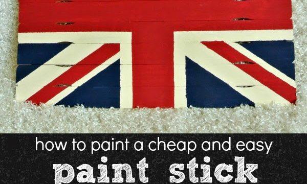 Paint Stick Union Jack Wall Hanging