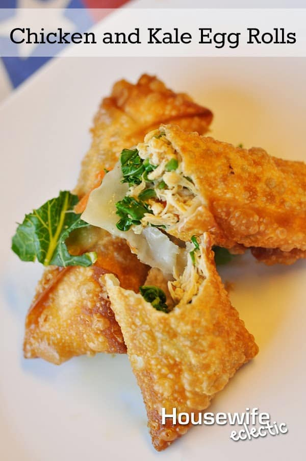 Chicken and Kale Egg Rolls