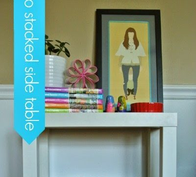 IKEA Hack: $5 Side Table into Stacked End Table
