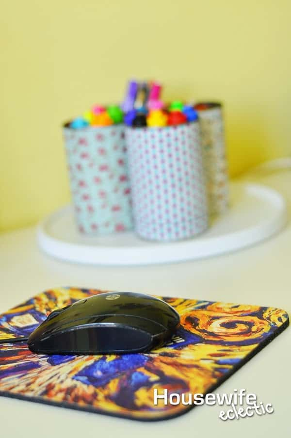 Housewife Eclectic: Lazy Susan Homework Station
