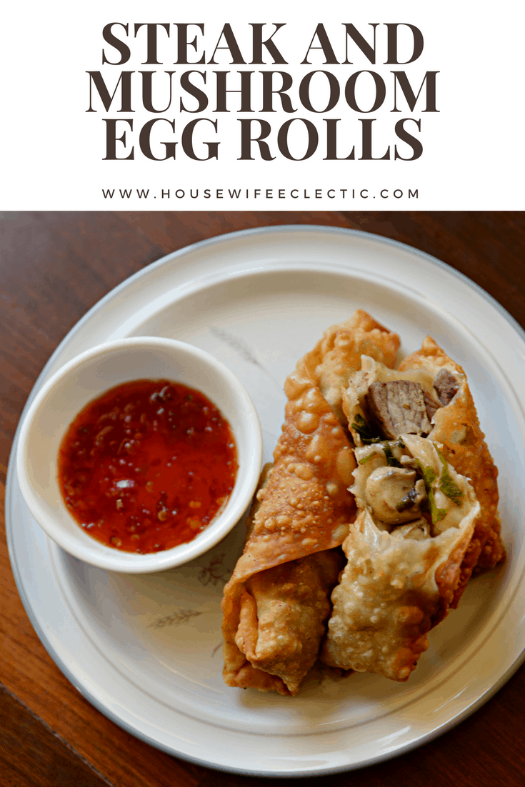 Steak and Mushroom Egg Rolls