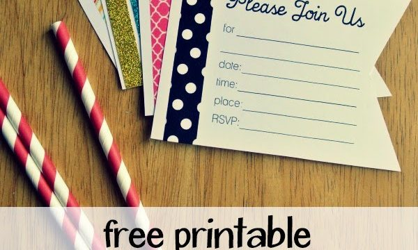 Free Printable Pennant and Washi Tape Party Invitation