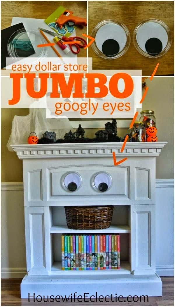 Easy Diy Dollar Store Jumbo Googly Eyes Housewife Eclectic