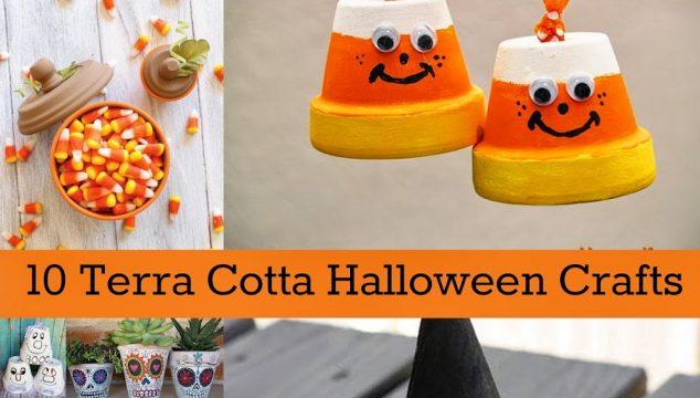 10 Terra Cotta Halloween Crafts
