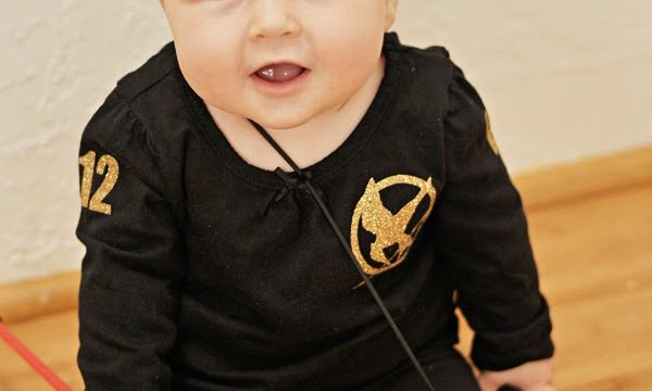 Easy Katniss Shirt and Baby Hunger Games Pictures
