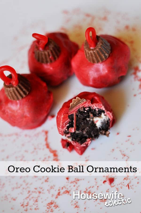 Housewife Eclectic: Oreo Cookie Ball Ornaments