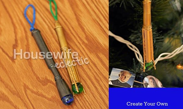 Create a Sonic Screwdriver Replica Charm or Tree Ornament