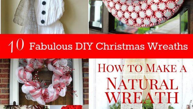 10 Fabulous DIY Christmas Wreaths