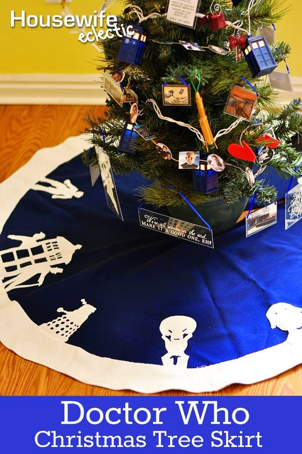 Doctor Who Alien Tree Skirt - Housewife Eclectic