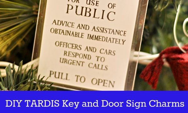 DIY TARDIS Key and Door Sign Charms