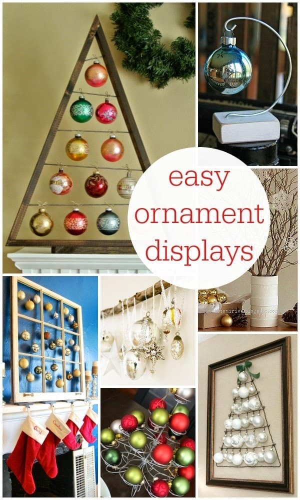 10 Creative Ornament Displays - 10 Creative Ornament Displays - Housewife Eclectic