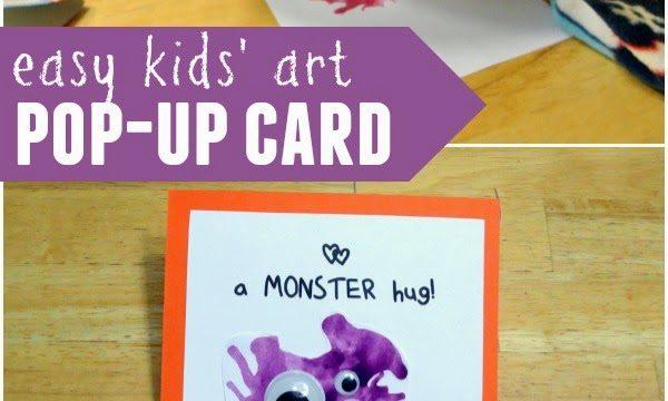 Kids' Art: Monster Hug Pop-Up Card