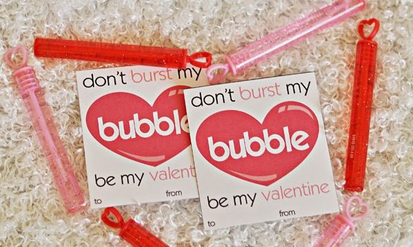 Don't Burst My Bubble Valentine with Free Printable
