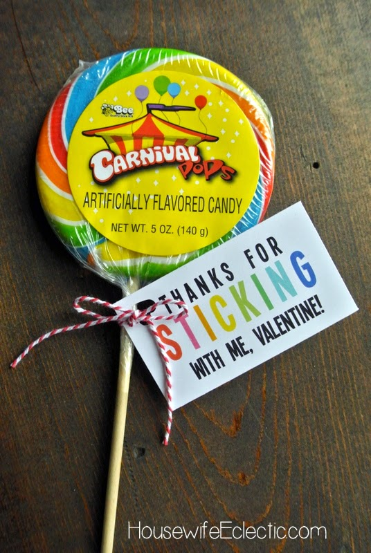 Free Printable Valentine Tag with 10+ Easy Gift Ideas - lollipop