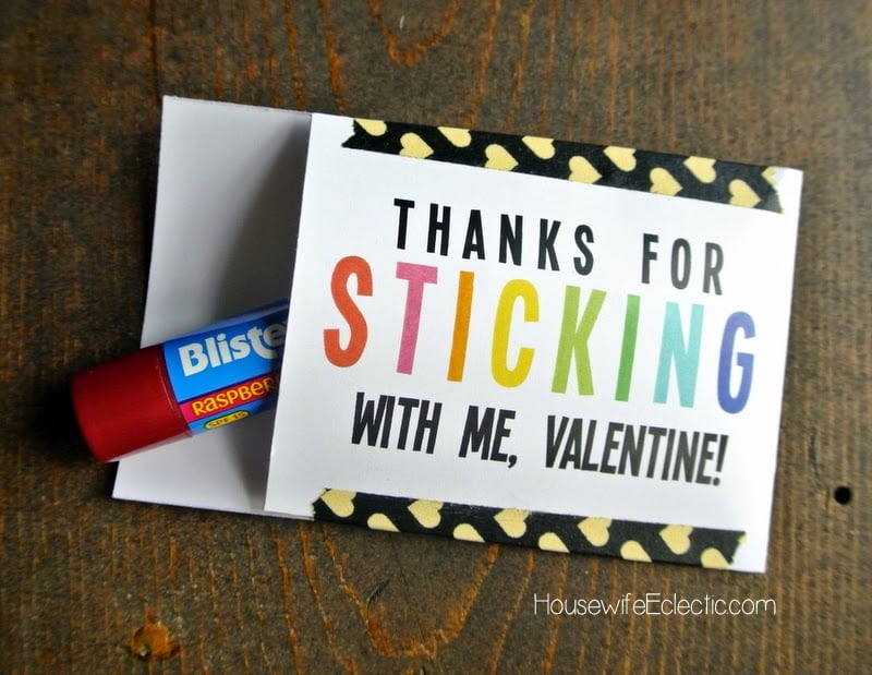 Free Printable Valentine Tag with 10+ Easy Gift Ideas - lip balm/chapstick