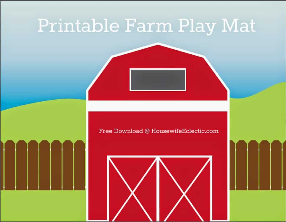 Printable Farm Play Mat Housewife Eclectic