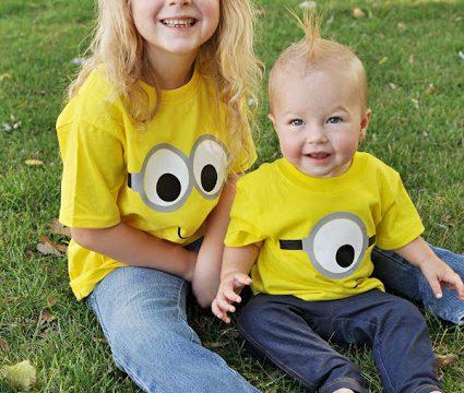 DIY Minion Shirts & Gift