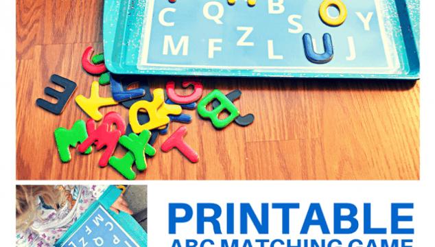 Printable ABC Matching Game