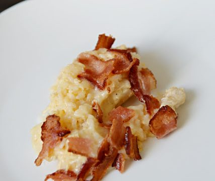 Cheesy Chicken and Rice with Bacon Bake