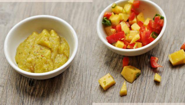 Two Mango Salsas- Sweet and Smooth