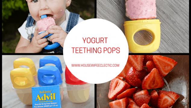 Yogurt Teething Pops