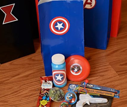 Avengers Party Goodie Bags