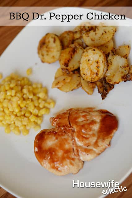 BBQ Dr. Pepper Chicken Recipe with Crispy Butter Potatoes