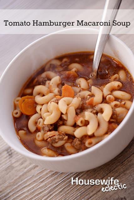 Delicious Tomato Hamburger Macaroni Soup Recipe