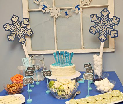Frozen Snack Table with LOTS of Healthy Options