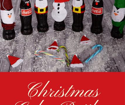 Christmas Coke Bottles and Chocolate Pecan Brownie Cake