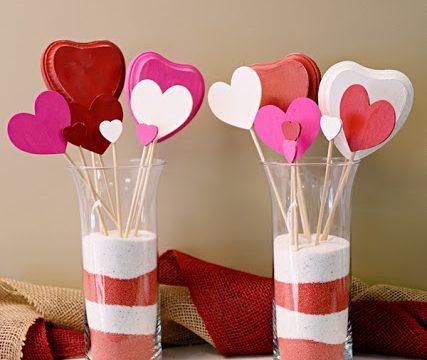 Wooden Heart Bouquet