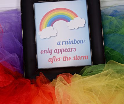 A Rainbow Appears After The Storm Free Printable