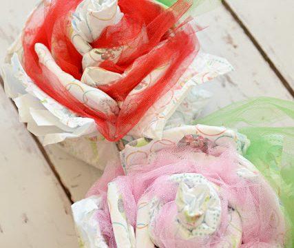 Baby Shower Diaper Roses