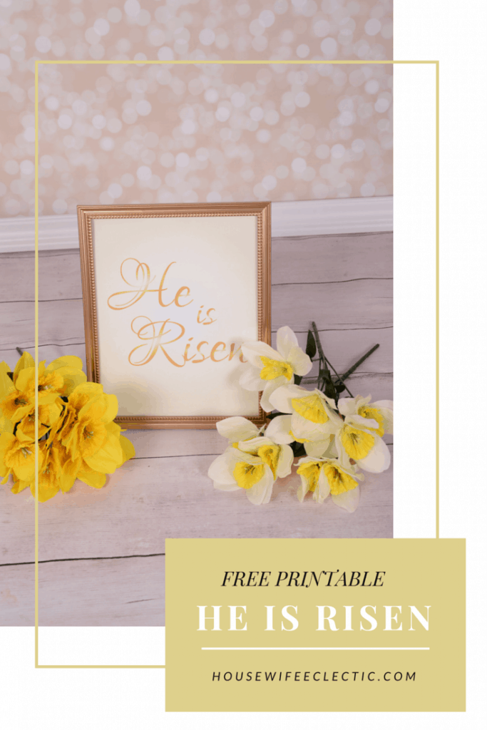 photograph relating to He is Risen Printable known as He Is Risen Cost-free Printable - Housewife Eclectic