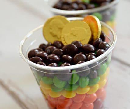 Rainbow Skittles Cups
